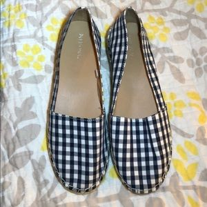 Cute Navy & White Espadrille Shoes Size 8